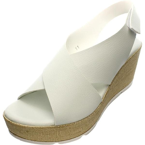 Callisto Callye Women Open Toe Synthetic White Wedge Heel