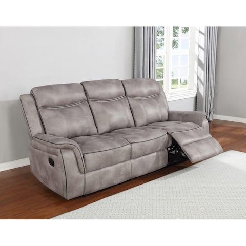 Lawrence Upholstered Tufted Back Motion Sofa