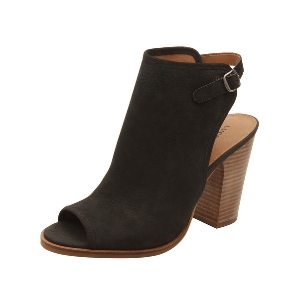 Lucky Brand Womens Lisza Booties in Black
