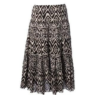 Lauren Ralph Lauren Womens Maxi Skirt Printed Ruffle