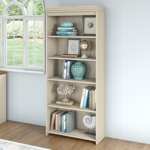 "Copper Grove Khashuri 5-shelf Bookcase - 29.57""L x 12.09""W x 68.94""H - 29.57""L x 12.09""W x 68.94""H"