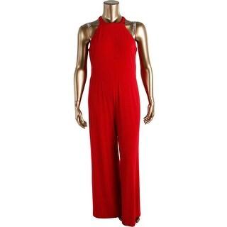 Lauren Ralph Lauren Womens Matte Jersey Zip Back Jumpsuit