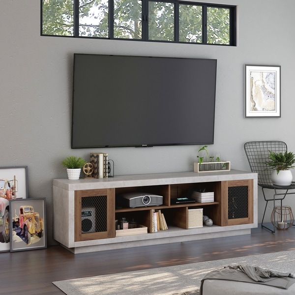 Furniture of America Leas Industrial 70-inch Cement-Like TV Stand. Opens flyout.