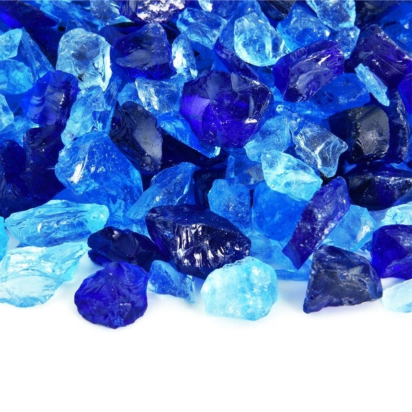 Crushed Fire Glass Blend for Indoor/Outdoor Fireplaces/Pits (10 lbs.). Opens flyout.