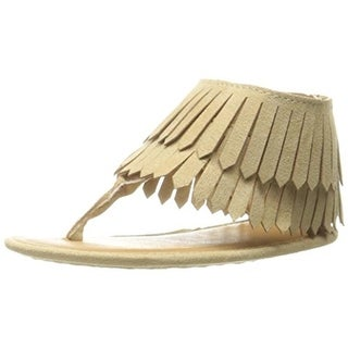 Baby Deer Thong Sandals Toddler Fringe - 4 medium (b,m)