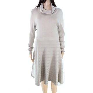 Calvin Klein NEW Beige Women's Size Medium M Turtleneck Sweater Dress