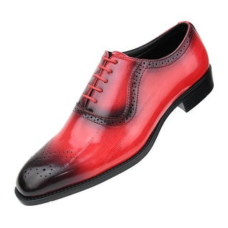 Bolano Mens Exotic Print Plain Toe Lace Up with Perforations