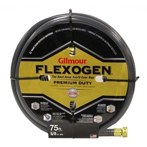 """Gilmour 1058075 Flexogen Garden Hose, 5/8"""" x 75', Gray"""