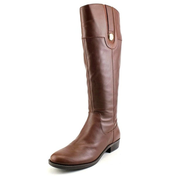 Tommy Hilfiger Dalyn Wide Calf Women Round Toe Leather Knee High Boot