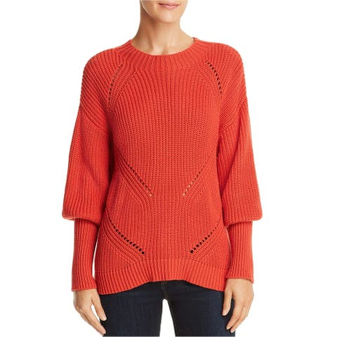 Joie Womens Juliet-Sleeve Knit Sweater, Red, Small