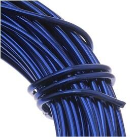 Aluminum Craft Wire Royal Blue 18 Gauge 39 Feet (11.8 Meters)