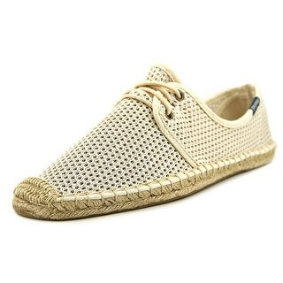 Soludos Lace Up Espadrille Round Toe Synthetic Espadrille