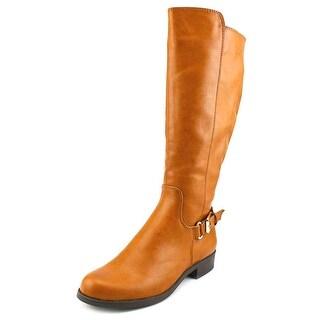 Alfani Jarabina Wide Calf Women Round Toe Synthetic Tan Knee High Boot