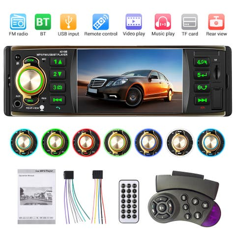 1 DIN HD Screen Car Radio 4.1 inch Bluetooth MP5 Player FM AUX W/Remote USB/TF