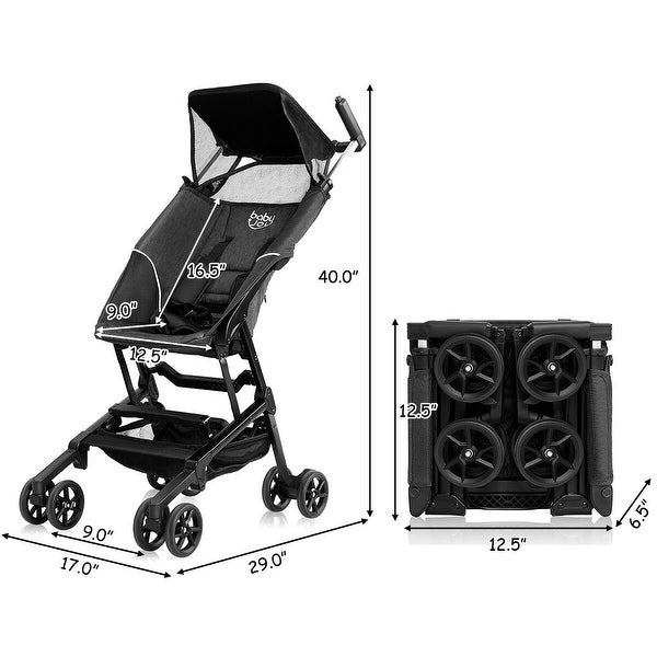 Buggy Portable Pocket Compact Lightweight Stroller Easy Handling Folding Travel