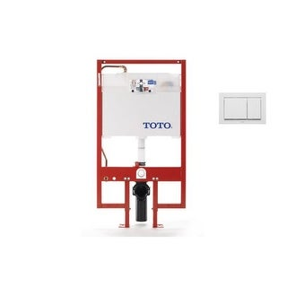 Toto WT151800M Duofit In-Wall Toilet Tank System with Included Dual-Button Push Plate