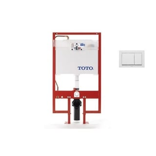 Toto WT152800M Duofit In-Wall Toilet Tank System with Included Dual-Button Push Plate