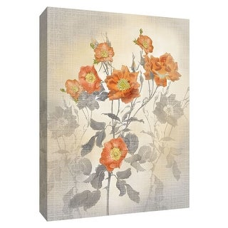 "PTM Images 9-148504  PTM Canvas Collection 10"" x 8"" - ""Red Climber"" Giclee Flowers Art Print on Canvas"