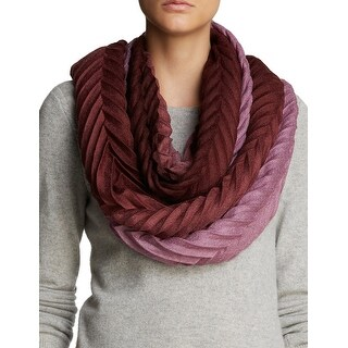 Echo Design Womens Burgundy Wine Ombre Knife Pleat Infinity Loop Scarf - One Size