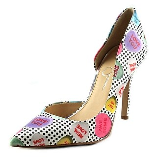 Jessica Simpson CLAUDETTE Women Pointed Toe Patent Leather Multi Color Heels