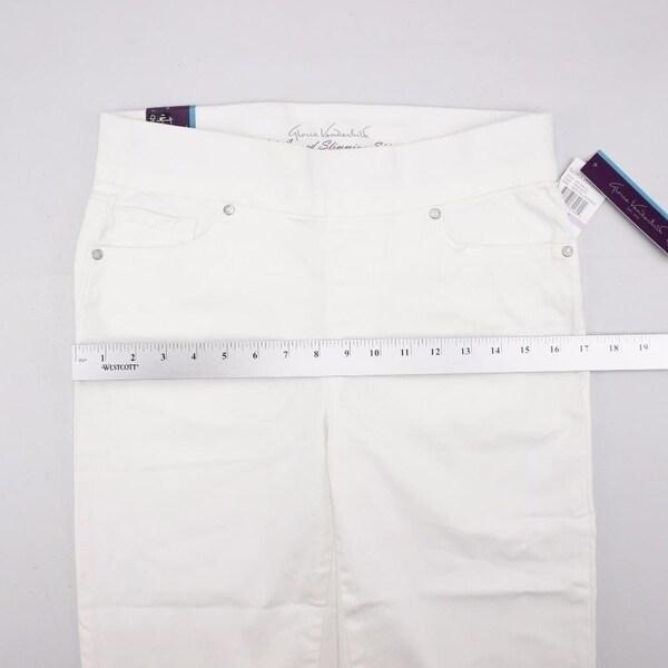 NWT Gloria Vanderbilt Avery Pull On Mid Rise Straight Leg Stretch Pants