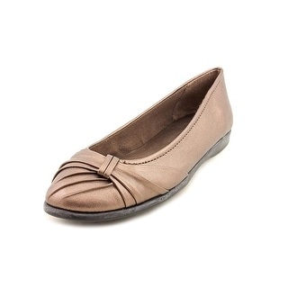 Easy Street Giddy Women Round Toe Synthetic Bronze Flats