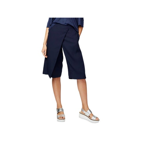 Rachel Rachel Roy Womens Gaucho Pants Faux Wrap Knee Length