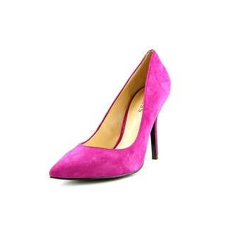 Guess Mipolia Women Pointed Toe Suede Pink Heels