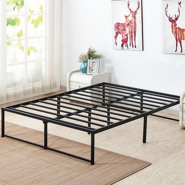 VECELO Metal Bed Frames 14 Inch Steel Slat Platform Storage Beds