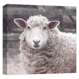 """PTM Images 9-124611  PTM Canvas Collection 12"""" x 12"""" - """"Farmhouse Sheep III"""" Giclee Lambs Art Print on Canvas"""