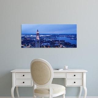 Easy Art Prints Panoramic Images's 'Dusk Boston Massachusetts USA' Premium Canvas Art