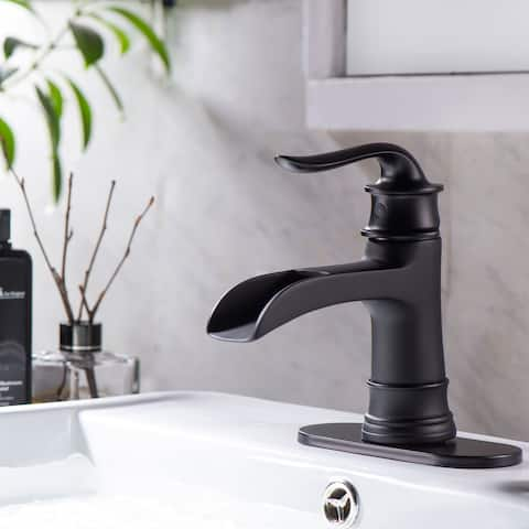 Black Single Hole Bathroom Vessel Sink Faucet