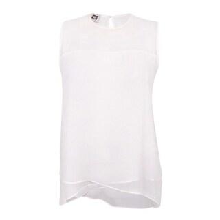 Anne Klein Women's Sleeveless Handkerchief Hem Top - White