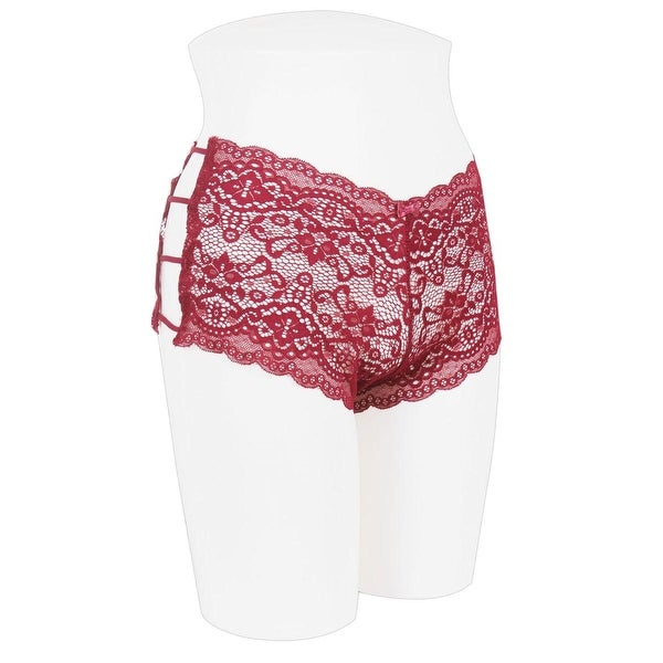 Shop Ladies Caged Lace Hipster - Size - L - Free Shipping On Orders ... 16a0e6e27