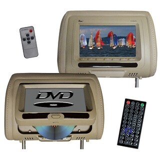 Tview t737dvpltan tview 7 in headrest monitor with dvd player built in speakers remote tan