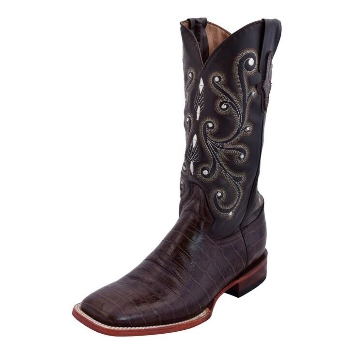 Ferrini Black Gator Belly Print Boots