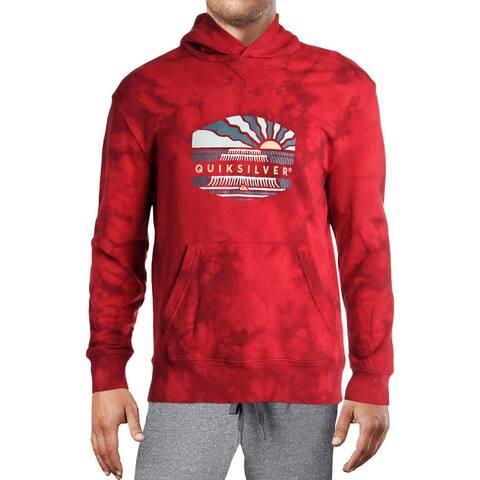 Quiksilver Mens Volcanic Ocean Hoodie Logo Sweatshirt