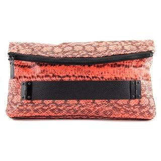 Vince Camuto Essy Clutch Women Snakeskin Clutch - Orange