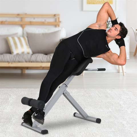 FitHealth Roman Chair Back 45 Degree Hyperextension Bench Abdominal Exercise Sports Machine