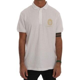 Versace Jeans Versace Jeans White Cotton Short Sleeve Polo T-Shirt