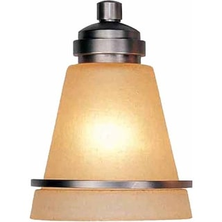 "Volume Lighting GS-383 6"" Height Amber Glass Cone Shade"