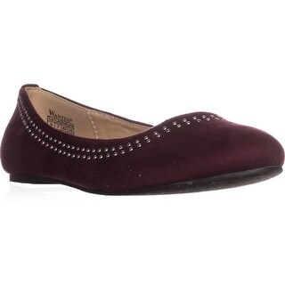 Wanted Rumors Casual Ballet Flats, Burgundy