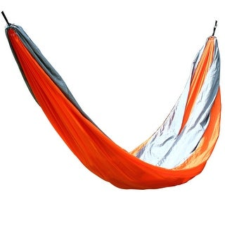 Konoo Authorized Outdoors Hiking Camping Bed Hanging Double Hammock Orange Gray