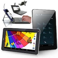 "Indigi® 7.0"" Dual-Core 2-in-1 SmartPhone + TabletPC w/ Android 4.2 JellyBean Dual-Cameras + WiFi + Keyboard Case Included"