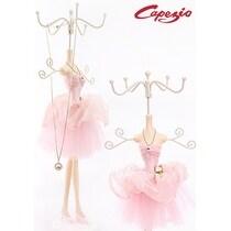 "Capezio Womens 12"" 2 Tier Ballerina Jewelry Holder, Pink, One"