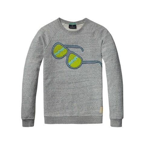 Scotch & Soda Carpet Sunglasses Crewneck Sweatshirt Large L Grey 136411
