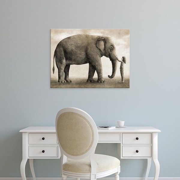 Easy Art Prints Terry Fan's 'One Amazing Elephant Option' Premium Canvas Art