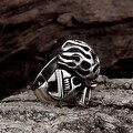 Vienna Jewelry The Original Death Skull Stainless Steel Ring - Thumbnail 2