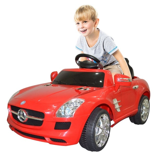 Costway RED MERCEDES BENZ SLS R/C MP3 KIDS RIDE ON CAR ELECTRIC. Opens flyout.
