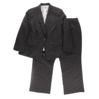 Tahari Womens Plus Louis Pinstripe 2PC Pant Suit